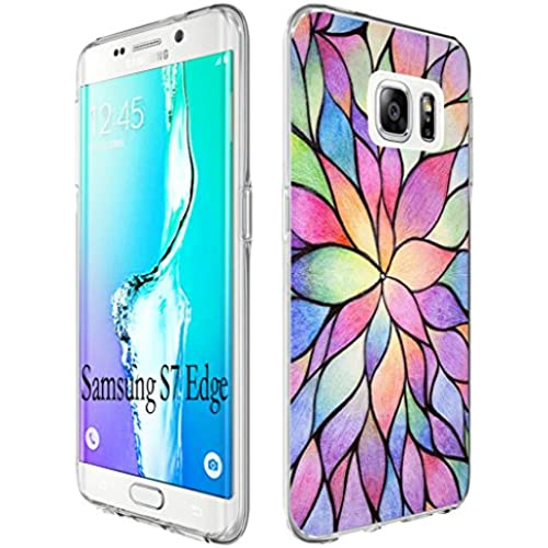 S7 Edge Case Tree, Gifun [Anti-Slide] and [Drop Protection] Soft TPU Premium Flexible Full Protective Case Cover for Samsung Galaxy S7 Edge (5.5 inches) W Sales