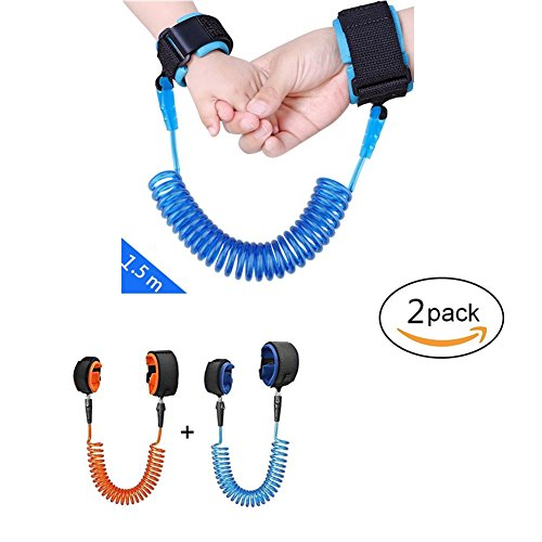 Anti-Lost Wrist Strap Safety Link for Toddlers, Babies, Children, (2 Pack)