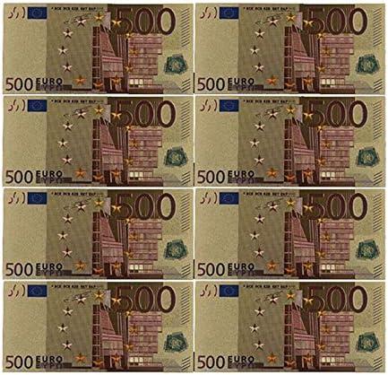 ZYZRYP コレクションやギフトEUマネー絶妙なクラフト用カラーユーロ紙幣10個入り/ロット50 EUR金箔紙幣 使いやすい (色 : G)