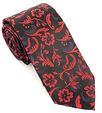 Van Buck - Corbata de seda, diseño de flores y vid: Amazon.es ...
