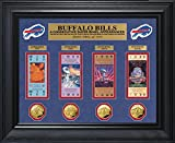 NFL Buffalo Bills 4 Super Bowl Appearances Deluxe Ticket & Game Coin Collection, 32'' x 27'' x 4'', Gold