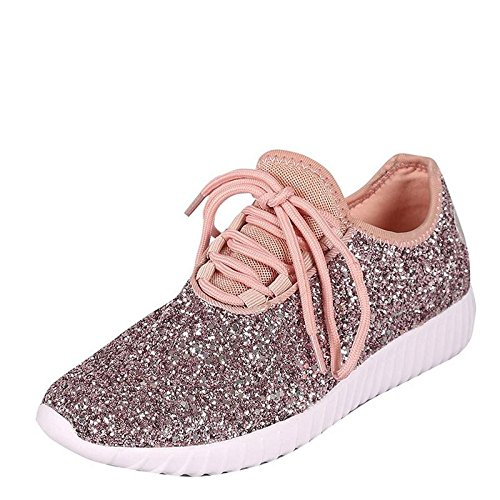 Forever Link Women's Remy-18 Glitter Sneakers | Fashion Sneakers | Sparkly Shoes...