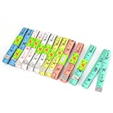 uxcell 1.5M Tape Measurement Sewing Tailor Ruler Measure 12pcs Assorted Color