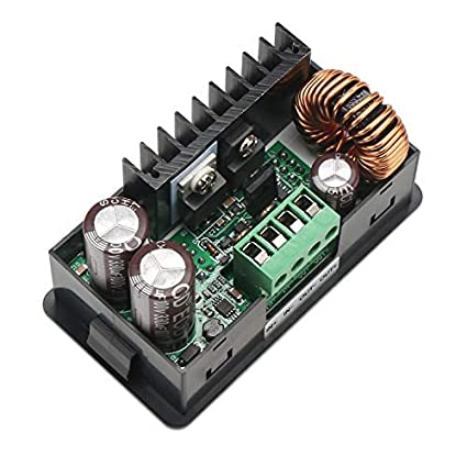 DROK NC Adjustable Voltage Regulator Buck Converter DC 6-60V Step Down to 0-50V Switching Power Supply Stabilizer Module 15A 750W Step-Down Volt Transformer with Cooling Fan
