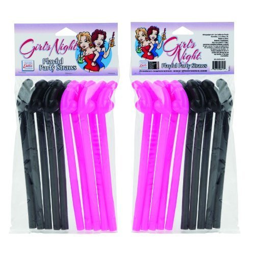 Girls Night Playful Party Straws