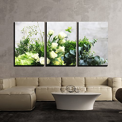 wall26 - 3 Piece Canvas Wall Art - Flowers - Modern Home Decor Stretched and Framed Ready to Hang - 24