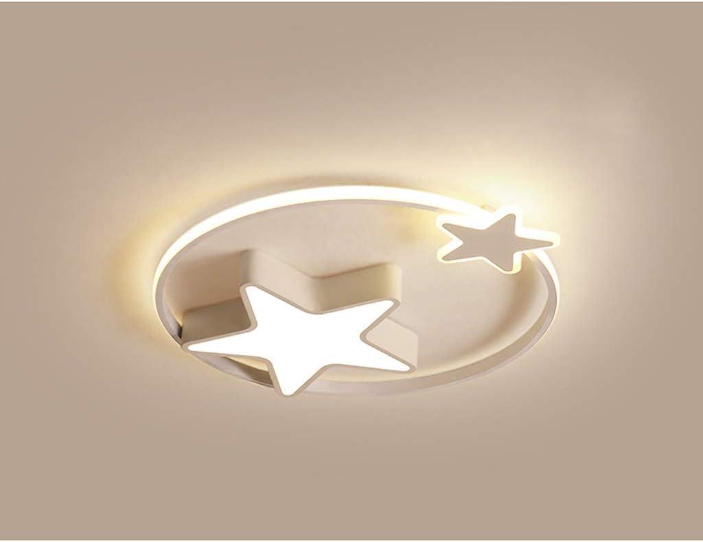 Plafonnier Lampe LED Plafonnier Enfants Jardin Denfants Moderne Jeune Fille /Étoil/é Lampe Dimmable Avec T/él/écommande Chambre Int/érieur Allume La Lampe De Suspension Salon,Blanc,55cm36W