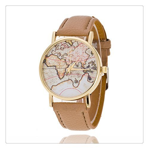 world map watch travel gift globe watch leather watch earth watch men