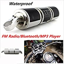 Motorcycle Bluetooth Audio Radio Sound System Stereo Speakers Waterproof Speaker TF/USB/AUX (silver)