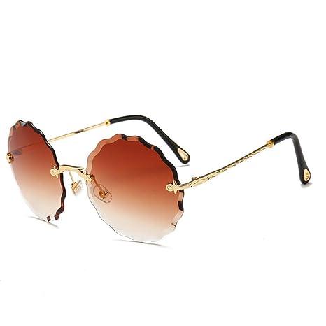 Yangjing-hl Gafas de Sol Redondas Diseñador de la Marca ...
