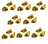 Construction Zone Party Pick Cupcake Decorations (24 ct)