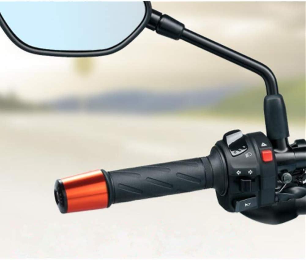 Jeu de 2 Motorcycle Scooter Embouts de Guidon Poign/ée Handlebar Grip Barre End Plug 17mm Argent