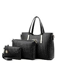Becoler Women Handbag Shoulder Bags 3 Piece Tote Bag Purse Pu Leather Ladies Messenger Hobo Bag Set