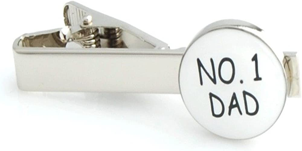 Procuffs Number 1 Dad Fathers Day Tie Clip Black Wedding Bar Clasp