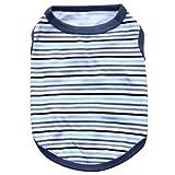 Dog Vest,Laimeng,2016 New Pet Dog Elasti Clothes Apparel Stripe Vest T-shirt (XS, Black)