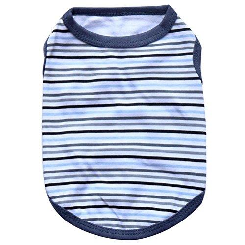 Dog Vest,Laimeng,2016 New Pet Dog Elasti Clothes Apparel Stripe Vest T-shirt (L, Black)