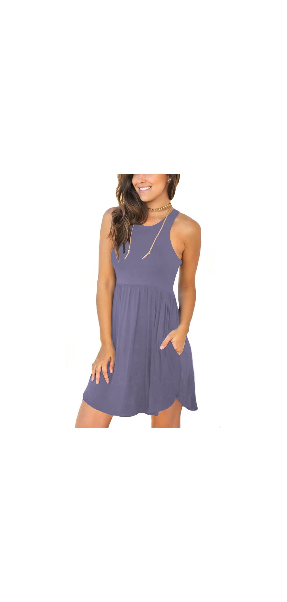 Women's Summer Casual T Shirt Dresses Swimsuit Cover