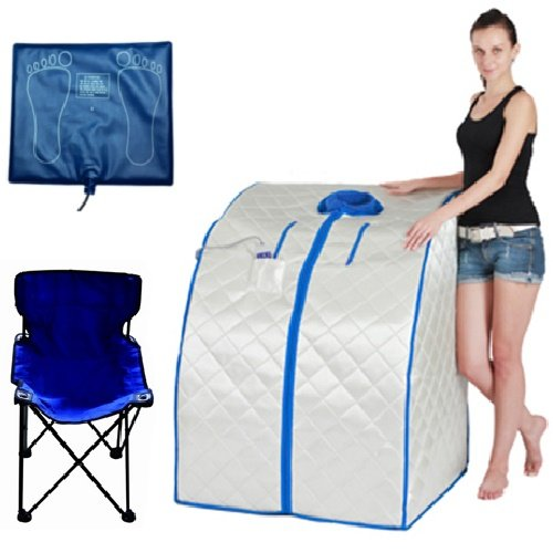 DURHERM DIF-202 IR FAR Infrared Indoor Portable Foldable Sauna with Heating Food Pad and Chair by DIF-202