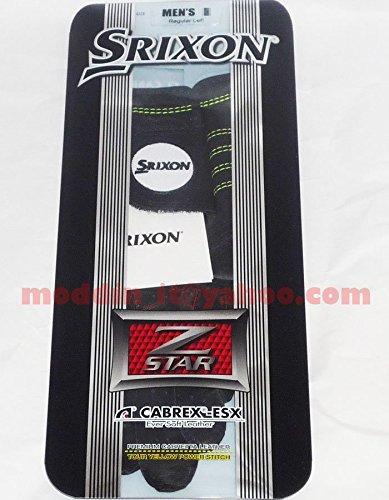 Srixon Golf Men's Z-Star Cabrex-Esx Premium Leather Golf Glove, Fit on Left Hand, Black, Small Cadet