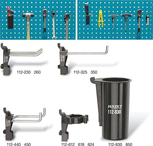 Hazet 112/11 Tool holder set for perforated panels (11 Piece)