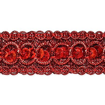 Expo International Trish Sequin Metallic Braid Trim Embellishment, 20-Yard, Purple IR6973PR-20