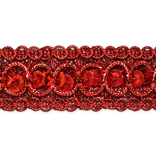 Expo International Trish Sequin Metallic Braid Trim Embellishment, 20-Yard, Royal Blue IR6973RL-20