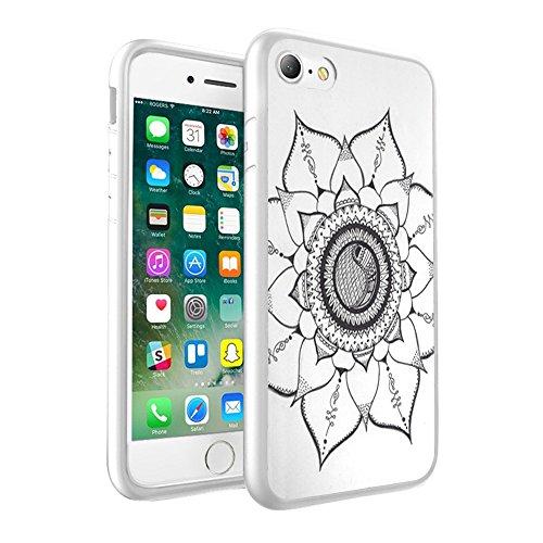 iPhone X Hülle, einzigartige Custom Design Prodective harte zurück dünner dünner Fit PC Bumper Case Kratzfeste Abdeckung für iPhone X - Mandala 0038