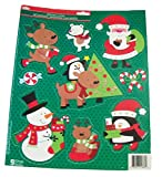 Christmas Reusable Window Clings ~ Forest Animal Winter Celebration! (9 Clings, 1 Sheet)