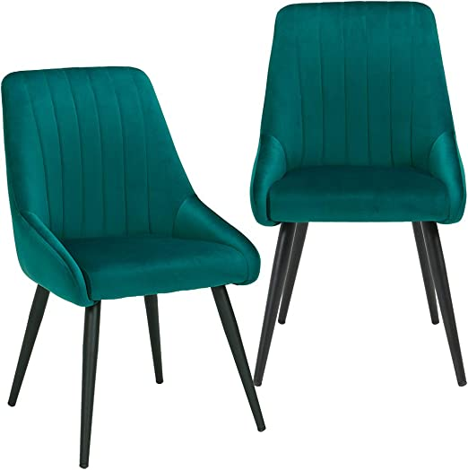 Modern Accent Chairs Mid Century High-Back Velvet Kitchen Dining Chairs  Upholstered Tufted Mid-Century Arm Chairs Club Guest Upholstered Chairs Set  of ...
