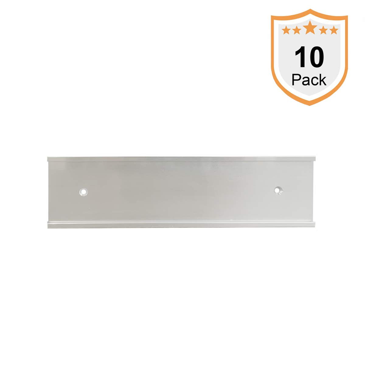 Nameplate Holder - Wall or Door - Silver 8 x 2 (10)