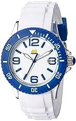 40Nine Unisex 40NINE03/BLUE3 Medium 40mm Analog Display Japanese Quartz White Watch