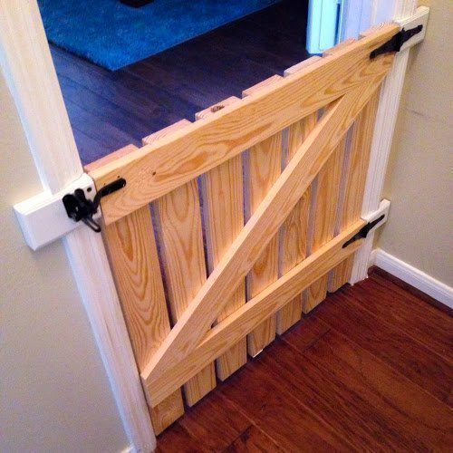 Baby/ Dog Gate With A Support Slat by Rustic Beauty by Abril