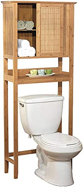 Amazon Com Natural Bamboo Space Saver Bathroom Storage Space