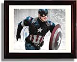 Framed Chris Evans Autograph Replica Print - Captain America