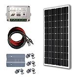 ECO-WORTHY 100 Watts 12 Volts Monocrystalline Solar Panel Bundle Off Grid Kit