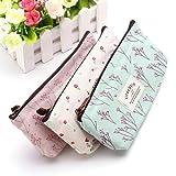 Countryside Flower Floral Pencil Pen Case Cosmetic Makeup Bag