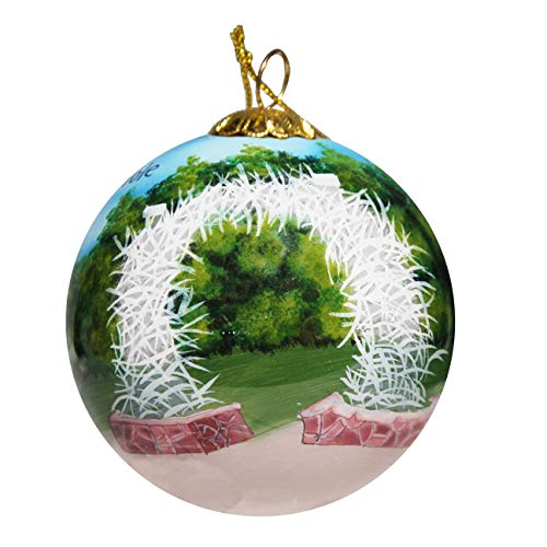 Art Studio Company Hand Painted Glass Christmas Ornament - Arch Jackson Hole Wyoming Day