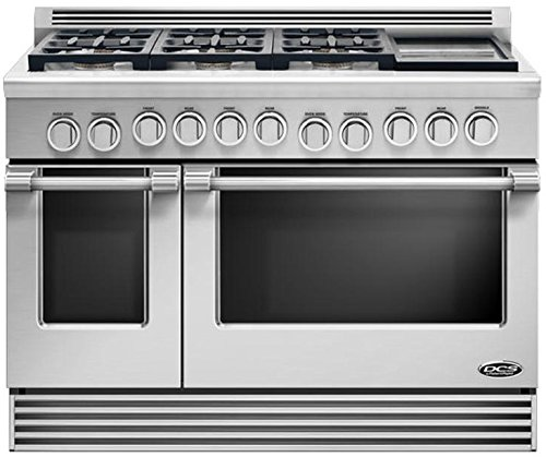 "Price comparison product image DCS RDV486GDN Professional 48"" Stainless Steel Dual Fuel Sealed Burner Double Oven Range - Convection"