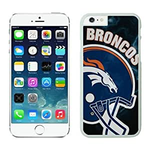 NFL iPhone 6 Plus 5.5 Inches Case Denver Broncos White iPhone 6 Plus Cell Phone Case ONXTWKHB1435