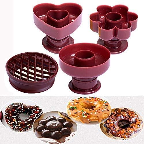 Donut Molde Cake Mould, 3 Pack DIY Doughnut Donut Maker Cutter Biscuit Stamp Mould Desserts Bread Cutter Maker Mold Kitchen Baking Tool: Amazon.es: Hogar