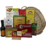 Heart Healthy Gourmet Food Gift Basket with Smoked Salmon