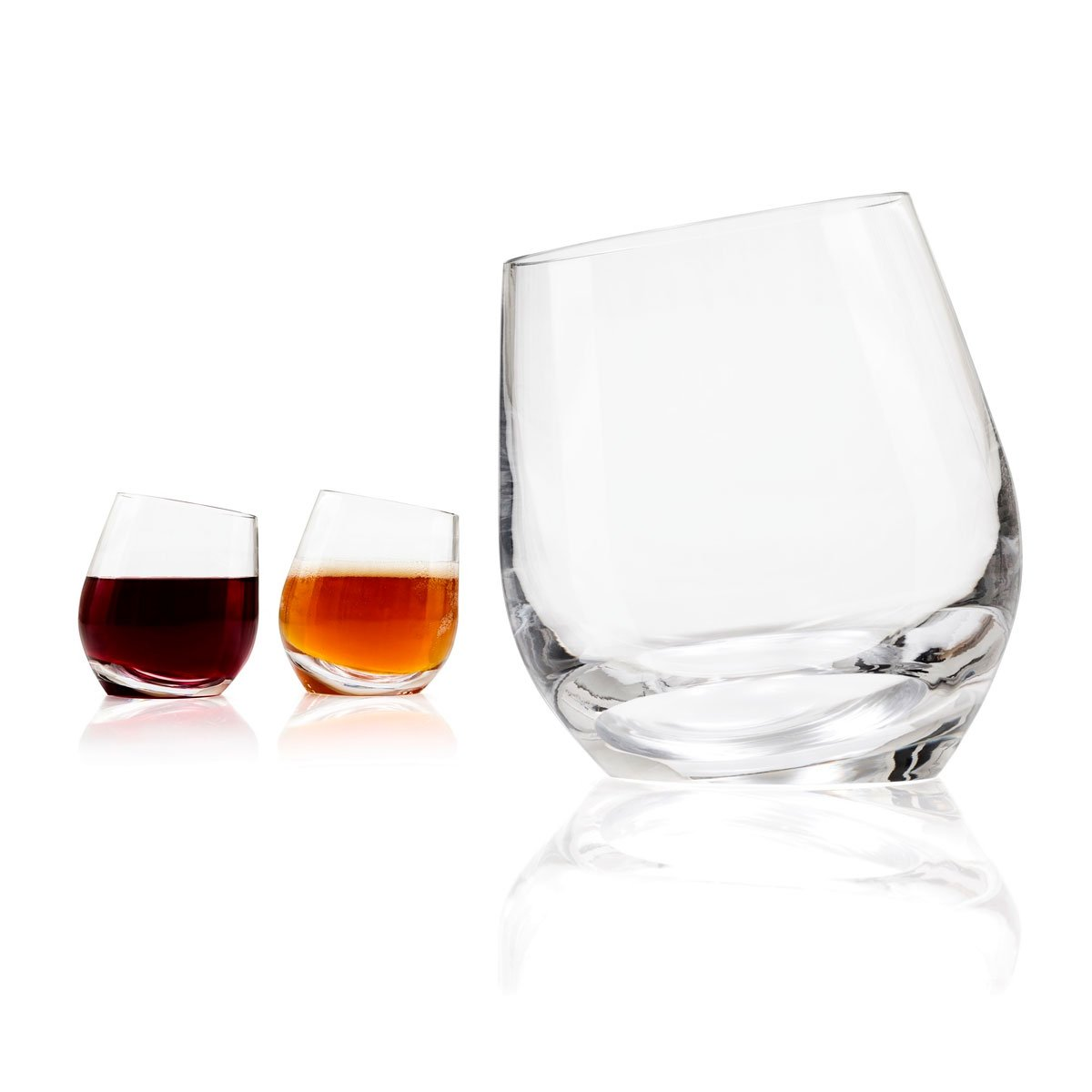 Tonfisk SHADOW stemless red wine / beer glasses (2) LG 11oz 33cl