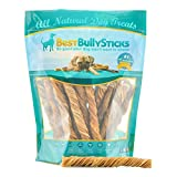 100% Natural 5-inch Inch Tripe Twists by Best Bully Sticks (25 Pack) All-Natural Beef Dog Chews