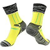 Military Personnel Socks, RANDY SUN Men's Cool And Dry Lightweight Hose Yellow Blister Resist Running Socks