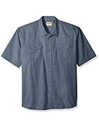 Wrangler mens big-tall Authentics Big & Tall Short Sleeve Classic Twill Shirt