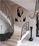 Marilyn Monroe silhouette Version 4 vinyl wall art decal