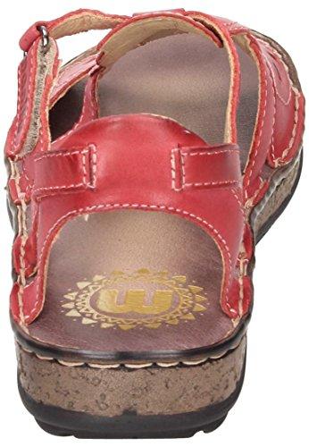 Sandalette Manitu Manitu Damen Rot Damen Sandalette qPxOaawd6