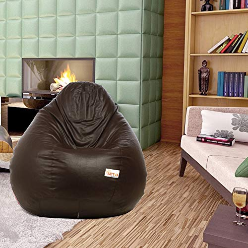 Sattva Classic Bean Bag Cover Without Beans XXXL Size   Brown