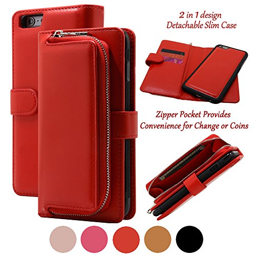 iphone 4 case wallet red - 6