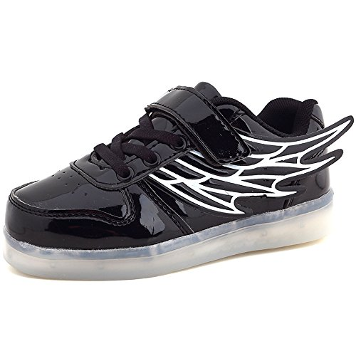 Toddler Little/Big Kid Boy Girl USB Flashing LED Light Shoes Sneaker